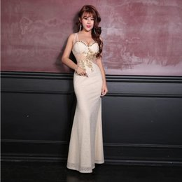 sexy dinner party dresses Promo Codes - 2019 New Arrival sexy cocktail Gown beautiful long dress low breast hollowed out dinner party evening ceremony dress
