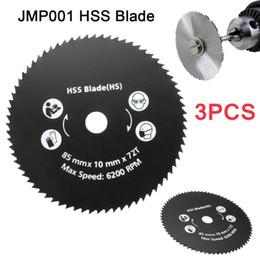 Drillpro 1PC 85 milímetros 72T HSS Circular Saw lâmina de corte roda Disco Para Worx metal Carpintaria Ferramentas Top Quality de Fornecedores de corte de gemas