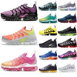 2020 sapatos masculinos iridescentes 2020 Homens Sneakers TN Além disso Running Shoes sol reverso Triplo Preto Iridescent arco-íris legal Grey Womens Trainers Tamanho 13 Designer sapata do esporte sapatos masculinos iridescentes barato