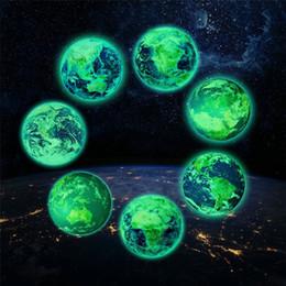 adesivo della terra Sconti 30cm Luminous Moon Earth DIY 3D Wall Stickers per Camera dei bambini Camera Glow In The Dark Wall Sticker Home Decor Soggiorno # # 4