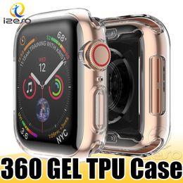 Transparente iwatch online-Luxus klar TPU Uhrengehäuse für Apple Watch Serie 4 3 2 bunte Gel weiche Frontscheibe voll abgedeckt Uhrenabdeckung für iWatch