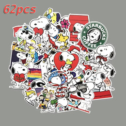 2019 alte computer 62pcs Karikatur Snoopy Graffiti Sticke stummer Filmaufkleber wasserdichter PVC-Aufkleber Computer, Kühlschrank, Koffer dekorativ rabatt alte computer