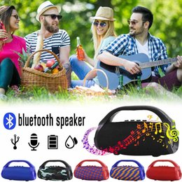 mp3 tragbare eisen mann Rabatt Wasserdichter beweglicher drahtloser Bluetooth Lautsprecher im Freien Berufs-HIFI Spaltenlautsprecher Subwoofer Resonanzkörper FM Radio TF Mp3