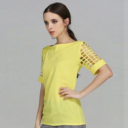 f2a9d57c492 Летние офисные женские топы 2019 с коротким рукавом белая рубашка женская  шифоновая блузка белая блузка большого размера синий желтый черный скидка  плюс ...