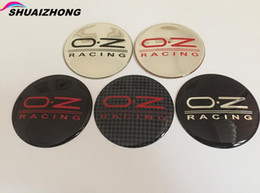 gorras de renault Rebajas 20pcs 56.5mm 65mm logo OZ O.Z coche del emblema del casquillo de eje del centro de rueda de la insignia de la etiqueta engomada el estilo del coche para Opel Renault Infiniti SAAB