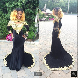 Belles robes de soirée noires manches en Ligne-Robe De Soiree 2019 Belle Robe De Soirée En Mousseline De Soie Sexy Dos Nu En Velours Noir Dos nu