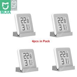 2019 sensor de temperatura de pantalla lcd Nuevo Xiaomi MiaoMiaoCe Humedad digital E-Link Medidor de TINTA Medidor Termómetro de alta precisión Temperatura Humedad Sensor Pantalla LCD sensor de temperatura de pantalla lcd baratos