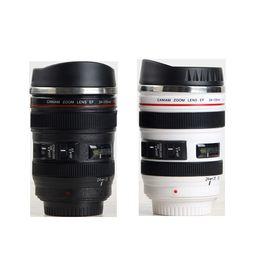 Имитация чашки объектива Creative Caniam Объектив камеры Кофе Кубок 400 мл кружка из нержавеющей стали Камера Eos 24-105 мм Модель Питьевая чашка с крышкой от