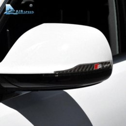 audi a4 mirror Скидка Airspeed s линия углеродного волокна зеркало заднего вида наклейка для Audi A1 A3 A4 B8 A5 C6 A6 A7 A8 Q3 Q5 Q