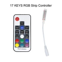 2019 dmx 512 decoder rgb Mini RF Colorful Colorful 17 tasti di controllo remoto Porta USB RGB LED controller di striscia di luce per PC TV