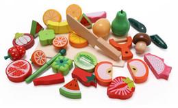 cachorros de brinquedo de plástico para crianças Desconto Treinamento de habilidade manual do brinquedo de madeira para pais e filhos para crianças na cozinha da família Frutas e vegetais cereja