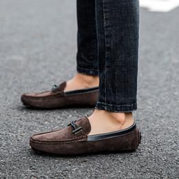 2019 хорошая новая обувь Новая мода мужская обувь повседневная кожа замшевые мокасины мужской хороший удобный скольжения на обуви человек большой размер вождения обувь для мужчин 5gfs скидка хорошая новая обувь