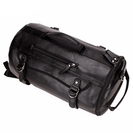 кожаные сумки Скидка Личность Большой Размер Круглый Кожаный Мужская Дорожная Сумка Мода Прокатки Путешествия Рюкзак Для Человека Известный Вещевой Мешок