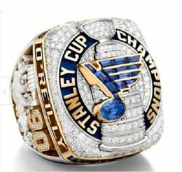 Fã presentes on-line-2018 2019 St. Louis Blues' Stanley Cup campeonato anéis Fan Homens Presente Atacado tamanho 2019 Drop Shipping 8-14