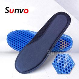 Zapatillas de correr con memoria de espuma. online-Honeycomb Sport Plantillas para calzado Absorción Memory Foam Running Baloncesto Fútbol Zapato Almohadillas Plantilla desodorante transpirable