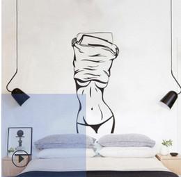 2019 виниловый виниловый винил Сексуальная девушка стикер стены творческий европейской и американской гостиной спальня украшения фон стикер стены украшения