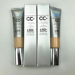 Argentina Maquillaje caliente CC + corrección de color crema 32 ml de cobertura total sin aceite Fundación Su piel mejor Epacket Suministro