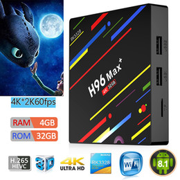 2019 радиотелефон 1 ШТ. Smart TV Box H96 Макс плюс Android 9.0 ТВ Box Rockchip четырехъядерный процессор 4 ГБ 32 ГБ Dual Wifi BT4.0 ПК TX6 H6 Макс скидка радиотелефон