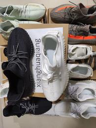 2019 sapatas running do ems 2019 Mulheres Homens Running Shoes Creme Brilho estática Citrin nuvem negra Reflective verdadeira forma argila Synth 3M Antlia Kanye West Esporte Sneaker