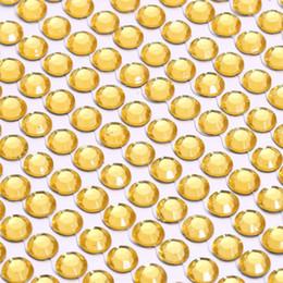 клейкая этикетка Скидка 3 мм многоцветные кристаллы драгоценных камней блестит автомобиль горный хрусталь 1 лист наклейки самокруглый клей