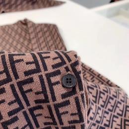 2019 maillots de sport de marque Lettre de luxe F de coton à tricoter coton nouveau-né enfants combinaison sport crawling costume FD doux et confortable vêtements de maison cadeaux de bébé