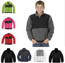 Mädchen kleidet größe 7t online-2020 Kinder Fleecejacke Jungen und Mädchen Fleece Slim Jacke Winter Warme Kleidung Kinder Fleece Winterjacke Mäntel Größe S-XXL