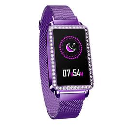 Argentina A88 Deportes Impermeable Reloj Inteligente Mujeres Pulsera Inteligente Banda Bluetooth Monitor de Ritmo Cardíaco Fitness Tracker Smartwatch Caja de Metal Suministro