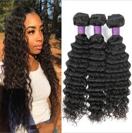 Lange haarperücken glatt online-Mode Perücke tiefe Welle glatte Haare nach unten 10A Ebene Echthaar Vorhang lange Haare natürliche Farbe glatt und nicht geknotet