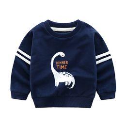 7669bd0c18a moisture wicking t shirts wholesale 2019 - Children s Hoodies spring new  dinosaur casual round neck cartoon