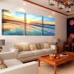 2019 immagini del tramonto spiaggia 3 pz 5d Pittura Diamante Diy