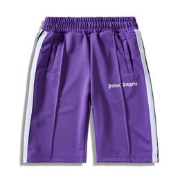 Palm anjos shorts homens mulheres marca sweatpants verão causul corredores calças de ginástica hip hop harajuku streetwear calças de trilha com faixa lateral novo de