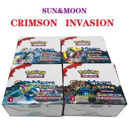 juegos de tarjetas de regalo Rebajas SunMoon Card 324PCS / caja Colección de anime Juegos de cartas coleccionables Seris Negro Blanco Ultra Sol y Luna Impresión Monstruos Tarjetas Novedad Juguetes Regalos
