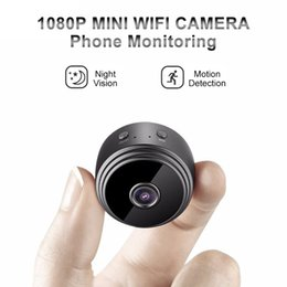 Mini telecamere nascoste online-A9 Mini Macchina Fotografica WiFi Wireless Video Camera 1080 P Full HD Piccolo Nanny Cam Night Vision Motion Activated Covert Security magnete piccole telecamere
