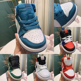 Kleinkind größe 12 online-Kids Sneakers Jam 1s Basketballschuhe für Kinder 1 Infant Boy Girl Sneaker Kleinkinder New Born Baby Trainer Kinderschuhe Größe: 22-37
