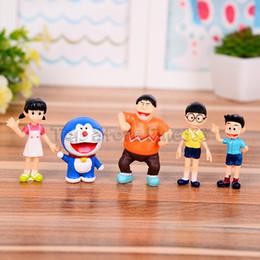 ME STANDıYLA Robot KEDI Aksiyon Figürleri Oyuncak 5 ADET / GRUP 3-8 CM Nobita Nobi çocuklar için bebek hediyeler Kız Hediye nereden