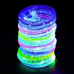 Crianças, piscando, pulseiras on-line-12pcs / set Luminous Pulseira Varas do fulgor iluminação pulseiras piscando Bangle Luzes pulseiras para festa de aniversário de criança Disco Hallow