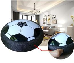Игры для мальчиков в помещении онлайн-Кляп Air Power Soccer Disc дети подвесной футбол со светодиодной подсветкой крытый открытый диск Hover Ball Game для мальчиков девочек спорт детские игрушки