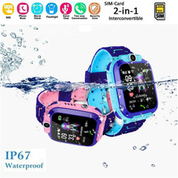 iphone tracking gps Rabatt Kinder Smart GPS Watch Tracker Sprachsteuerung Monitor Telefon für Kinder Sicherheit Heiße Uhren