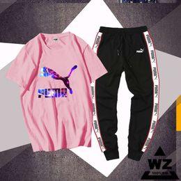 2019 paio di tute Uomo Summer Designer Tees Tuta Shorts Suit Letters Stampa Ricamo Coppia Suit Joggers Suit Brand Tuta Taglia M-4XL # 1 sconti paio di tute
