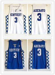 2b433031a78 custom made Kentucky Wildcats  3 Edrice Adebayo man women youth basketball  jerseys size S-5XL any name number
