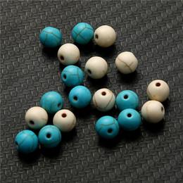 pietre lisce Sconti 1 filo 6/8 / 10mm all'ingrosso liscia pietra naturale blu beige turchese lucido perline sparse scegliere dimensioni per fare gioielli