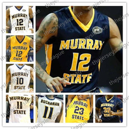 88114fc3e2c4 Murray State Racers Custom Any Name Number Stitched Blue Yellow White NCAA  College Basketball Jersey S-4XL  12 Ja Morant 0 Mike Davis