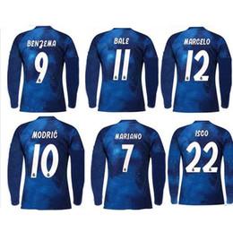 55fefe2260a 18 19 Real Madrid EA Sports Long sleeve Soccer Jersey 2018 2019 10 MODRIC  12 Marcelo  20 ASENSIO ISCO Away 3RD red Football uniform