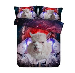 Set di comforter super king online-Comforter Bedding set 3D Sheep Bedding set Moon Star trapunta copripiumino lenzuola lenzuola Super King queen size full twin 5 PZ