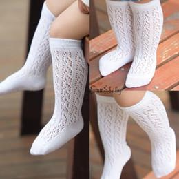 Meias de algodão infantil de joelho alto on-line-Bebê menina criança infantil criança algodão joelho alta princesa meias meias 0-4 anos