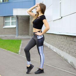 Leggings de piernas delgadas online-Nuevo estilo para mujer Leggings de cintura alta Sport Femmes Fitness Leggins Sportwear Sexy Thin Skinny Jogger Legging Jegging Elastic Pancil Pants