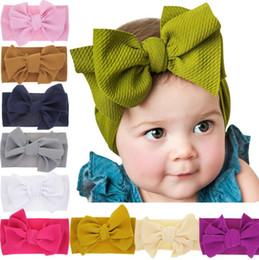 2019 recém-nascido, bebê, cabeça, wraps Moda Bebê Meninas grande arco headbands Elastic Bowknot hairbands headwear Crianças cocar bandas de cabeça recém-nascido Cabeça Turbante Wraps WKHA01 recém-nascido, bebê, cabeça, wraps barato