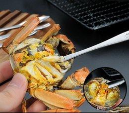 Canada crabe crabe fourchette prendre fourchette de crabe cuillère homard en acier inoxydable viande cuillère fournitures d'hôtel fourche aiguille gros A453 Offre