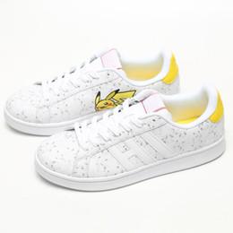 2019 pelle di maiale 2019 Pikachu Smith Shoes Outdoor Pig Pikachu Squirtle in pelle HUMAN Scarpe per donna Uomo Sneakers Scarpe da corsa sconti pelle di maiale