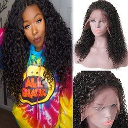 mongolian straight lace front wigs Promo Codes - 10A Human Hair Wigs Lace Front Or 360 Full Lace Wigs Kinky Curly Deep Wave Loose Wave Loose Deep Yaki Straight Remy Hair For Black Women